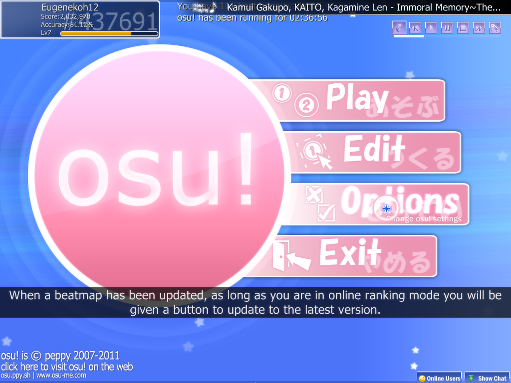 Preview and Installation of the osu! Skin - My FanFiction